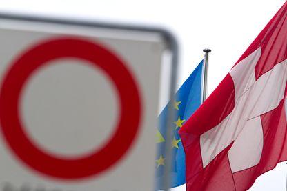 Frontière entre la Suisse et l'Europe à Bâle