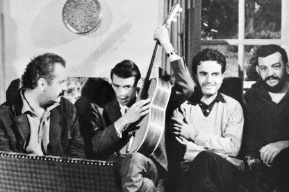 Georges Brassens, Jacques Brel, Guy Béart et Jean-Pierre Chabrol