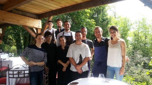 Le chef Alexandre Bonnel et son équipe