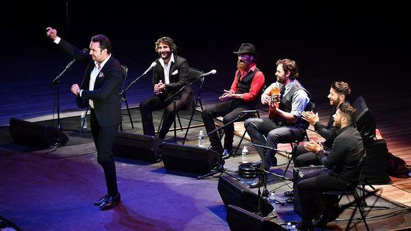Soirée flamenco au Domaine d'O avec Dani de Moron (guitare), Duquende, Jesus Mendez et Antonio Reyes (chant)