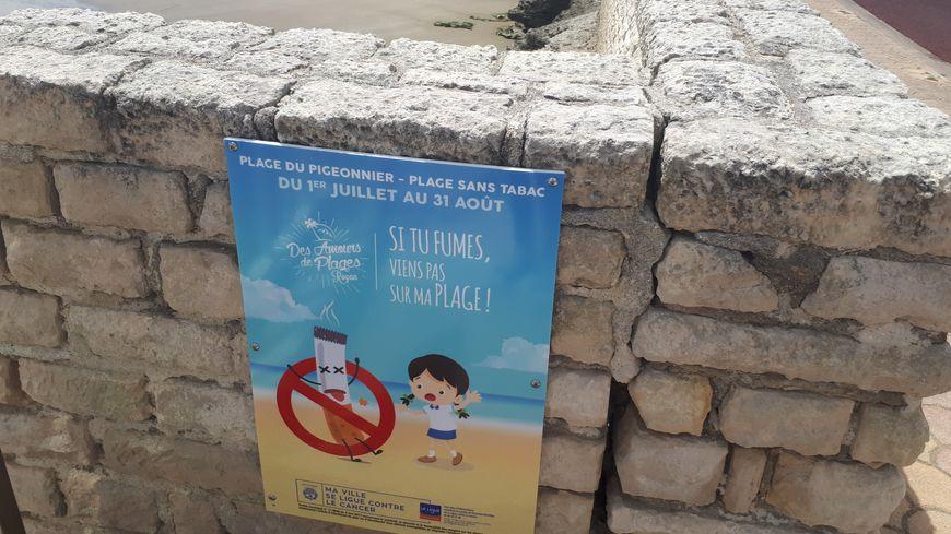 Plus le droit de fumer plage du pigeonnier à Royan!