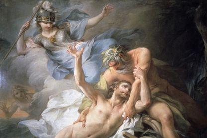"""""""Ulysse arrive sur l'île de Calypso"""" toile de Pierre Charles Trémolières"""