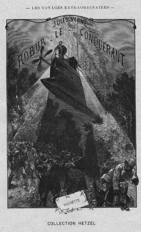 """Illustration du roman """"Robur le conquérant"""" par Léon Benett"""