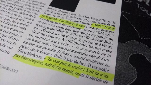 Extrait de l'article du Monde magazine sur François Fillon