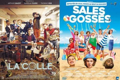 """Affiches de """"La Colle"""" d'Alexandre Castagnetti et de """"Sales Gosses"""" de Frédéric Quiring"""