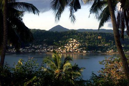 Vue générale du territoire français d'outre-mer de Mayotte dans l'océan Indien