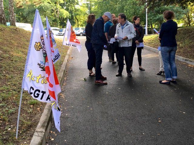 La CGT a distribué des tracts sur ce sujet lors de la dernière assemblée générale de l'Aidaphi Loiret