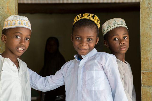 Dans le village de Kani-keli au sud-ouest de Mayotte, élèves d'une  Madrassa.