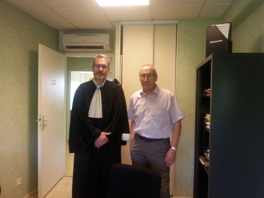 Me François-Xavier Bernard, l'avocat du conseil de l'ordre des médecins en Côte-d'Or et Jean-Pierre Mouraux, le président de l'ordre des médecins