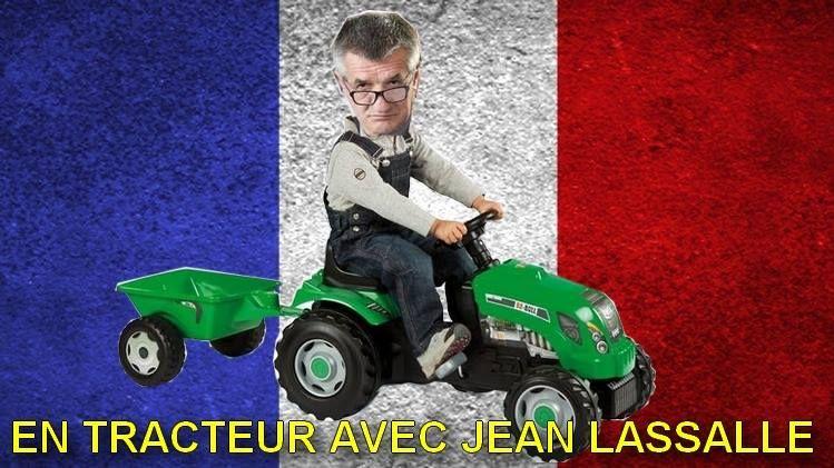 """""""En tracteur avec Jean Lassalle"""", le slogan du compte parodique"""