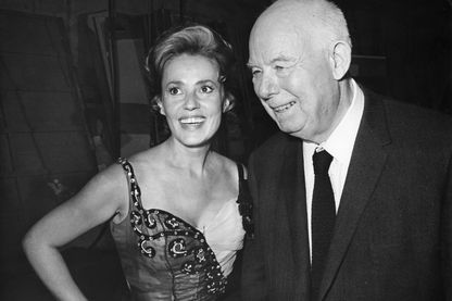 Jeanne Moreau et le réalisateur Jean Renoir