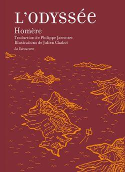 Première de couverture de l'Odyssée d'Homère, traduction par Philippe Jaccottet