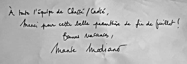 La dédicace de Marie Modiano