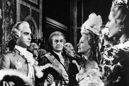 Axel de Fersen (Richard Todd) et Marie Antoinette (Michèle Morgan) dans Marie Antoinette, reine de France de Jean Delannoy 1956