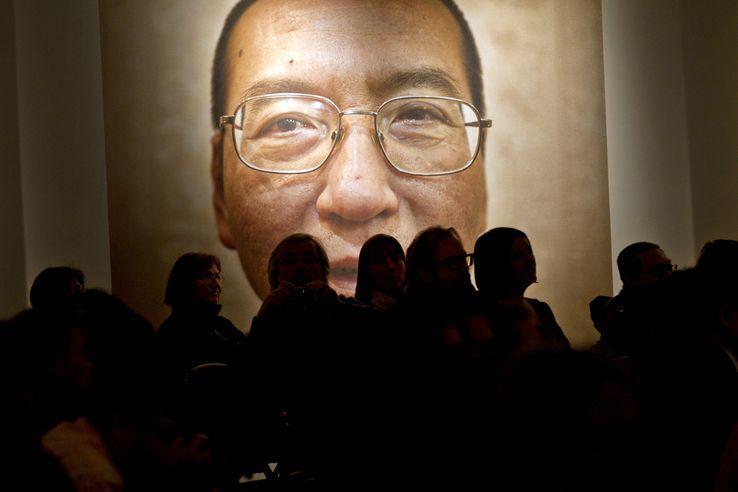 Photo prise à Oslo, en 2010, lors de la cérémonie pour le prix Nobel de la paix de Liu Xiaobo