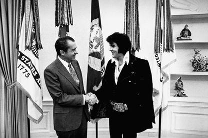 Le président Nixon et Elvis Presley, 21 novembre 1970 à Washington