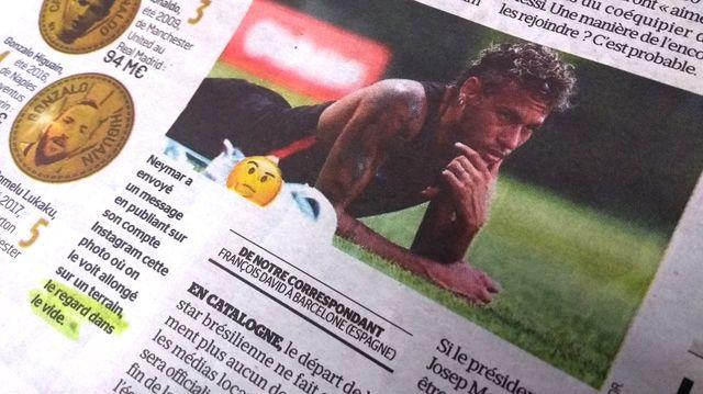 Extrait de l'article du Parisien sur Neymar