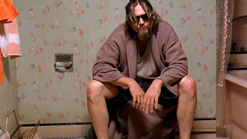 "Le ""Duc"" ou ""The Dude"" aux toilettes dans le film ""The Big Lebowski"""