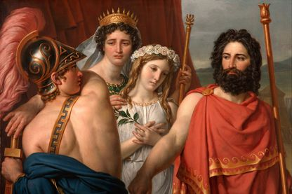La colère d'Achille, tableau peint par Jacques-Louis David en 1819 tiré d'un épisode de l'Iliade. Collection du Kimbell Art Museum.