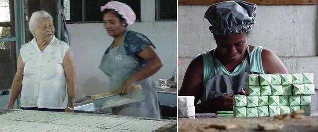 Thérèse Sénèque dans la biscuiterie crée par son grand-père