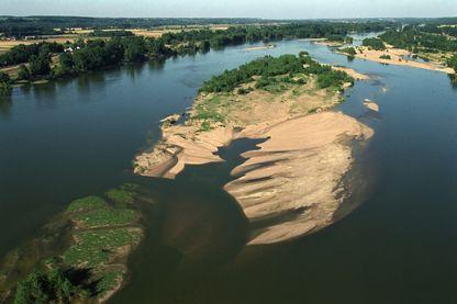 La Loire, vue aérienne du fleuve