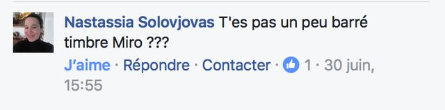 Capture d'écran Facebook Bavartdages