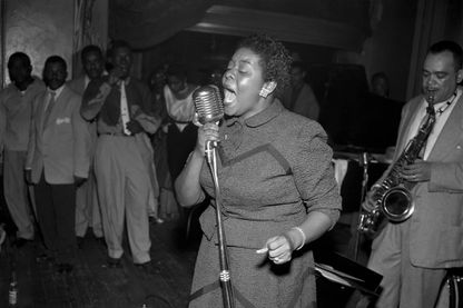 Dinah Washington au Chateau Gardens, New York - septembre 1952