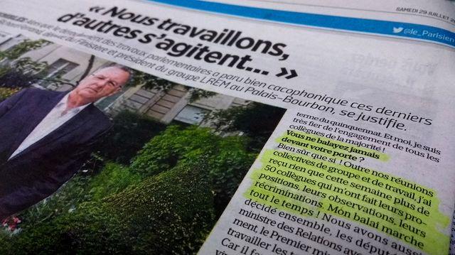 Extrait de l'interview de Richard Ferrand dans Le Parisien