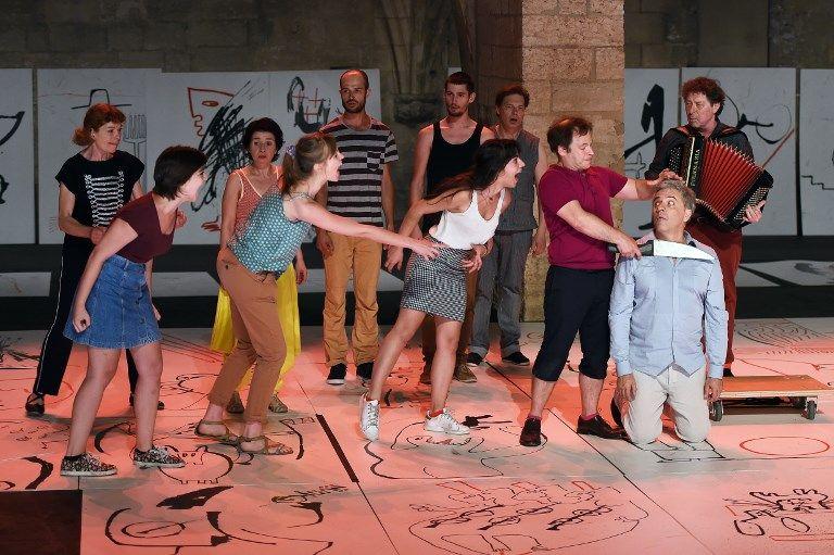 """""""Le vivier des noms"""" une pièce écrite et mise en scène par Valère Novarina, 2015, Avignon"""