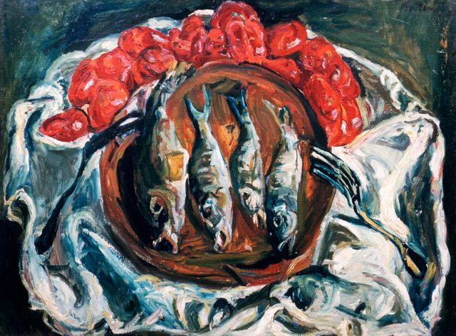 Poissons et tomates par Chaïm Soutine (1926)