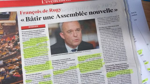 Extrait de l'interview de François de Rugy dans le JDD