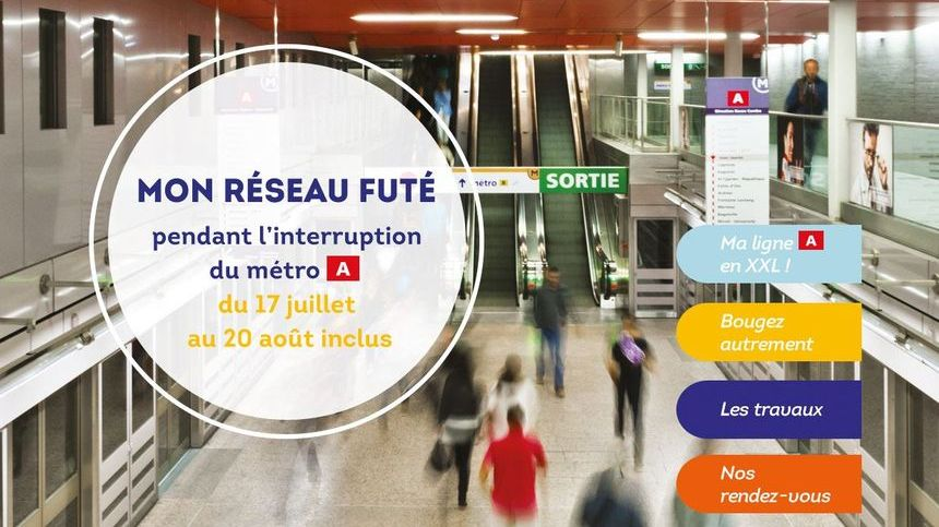 Tisséo a mis en place un site internet dédié afin d'informer les voyageurs durant les 35 jours d'interruption de la ligne A du métro toulousain.