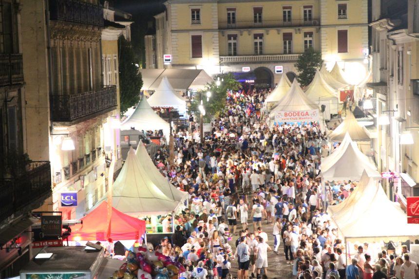 la fête dans les rues de Mont-de-Marsan durant la Madeleine
