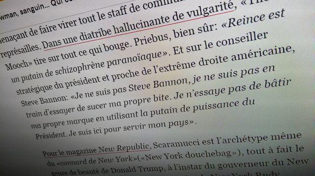 Extrait de l'article de Libération sur Antonio Scaramucci