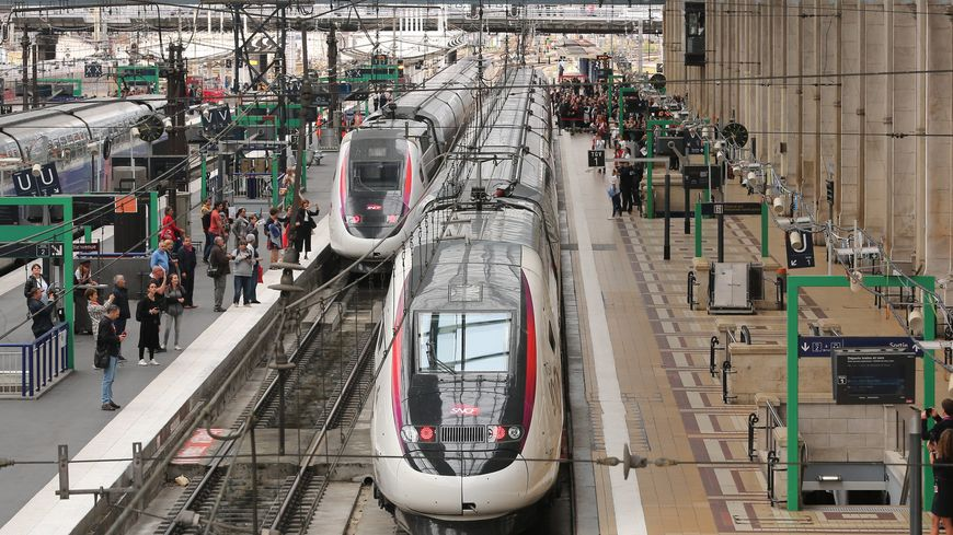 Le nouveau TGV InOui en gare Saint-Jean à Bordeaux.