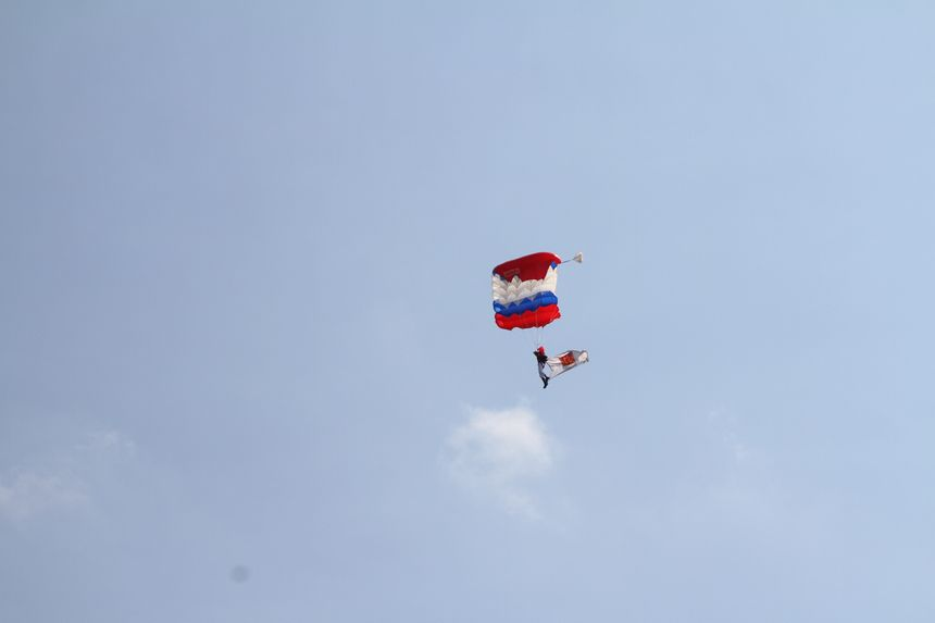 dans le ciel bayonnais pour le 1er RPIMA