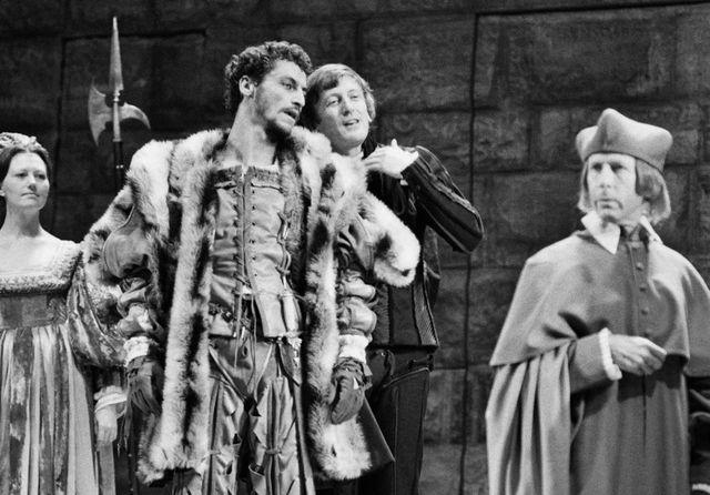 Jean-Luc Boutte et Claude Rich lors d'une répétition de Lorenzacio