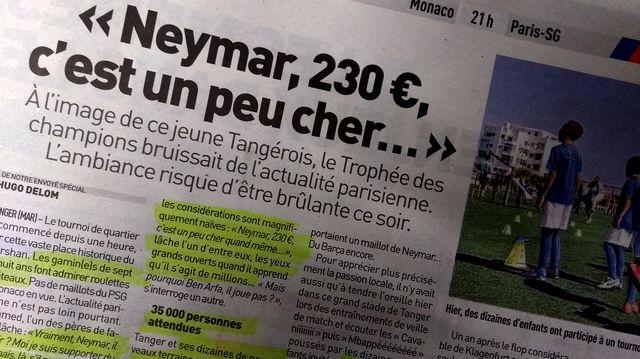 Extrait de l'article de L'Équipe sur le Trophée des Champions à Tanger