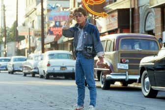 """Michael J. Fox sur le tournage de """"Retour vers le Futur"""" - 1985"""