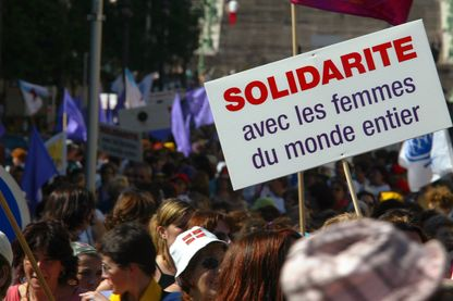 Manifestation internationale féministe