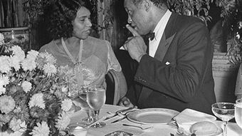 Marian Anderson & Paul Robeson,  30 décembre 1945 à New York USA