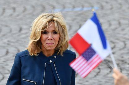 Brigitte Macron, le 14 juillet 2017