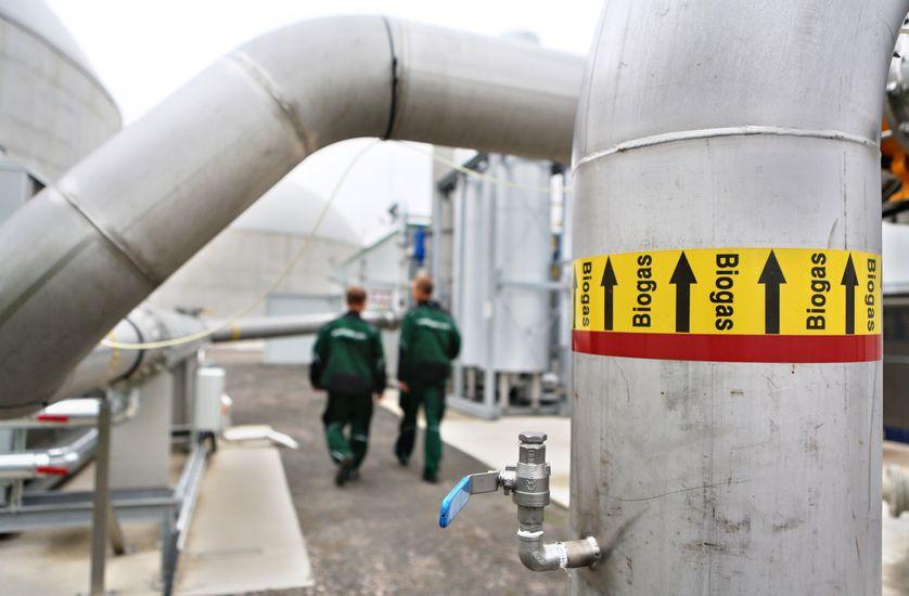 Installation de captation de biogaz en Grande-Bretagne.
