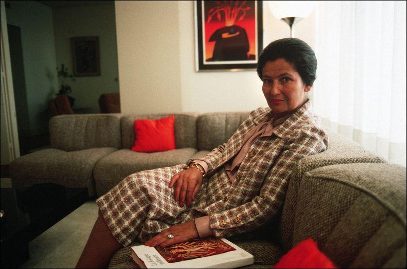 Simone Veil chez elle en 1977