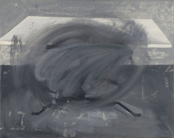 "Gerhard Richter, ""Tisch (Table)"", 1962. Huile sur toile 90 cm x 113 cm San Francisco Museum of Modern Art. Courtesy Gerhard Richter, 2016."