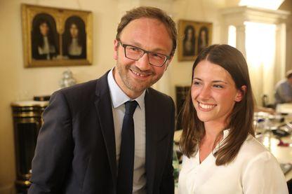 Elections législatives. 2e tour. le deux députés LREM de Savoie Patrick Mignola et Typhanie Degois