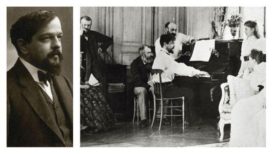 Claude Debussy, par Nadar, ~1908 / Claude Debussy avec sa famille, 1893