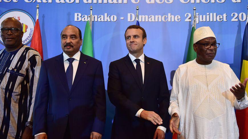 Emmanuel Macron, ce dimanche à Bamako.
