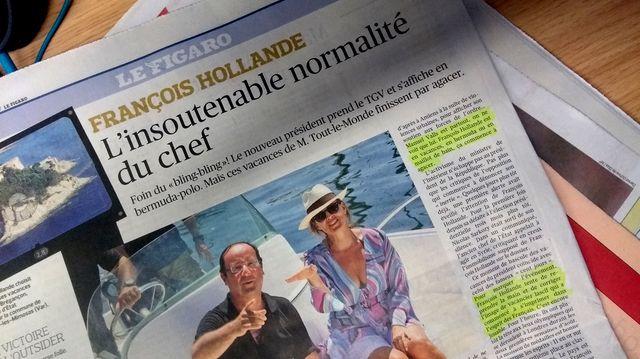 Extrait de l'article du Figaro sur François Hollande