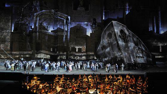 La production du Vaisseau fantôme de Wagner donnée en 2013 au théâtre antique d'Orange